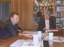 Ужгородський міський голова Віктор Погорєлов та префект Північно-Східного адміністративного округу м.Москва Ірина Рабер
