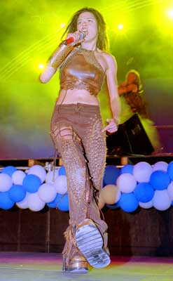 The singer Ruslana