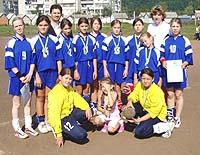 Чемпіони Закарпаття з гандболу — команда дівчат Хустської ДЮСШ