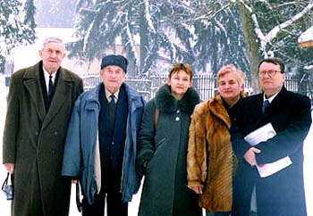 Група учасників конференції (зліва направо): Т.Попович, Г.Бескид, Л.Ільченко, М.Мальцовська, С.Конечні.