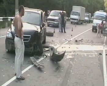 Тройное ДТП произошло в Крыму.