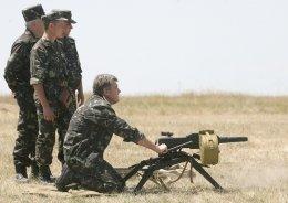 Ющенко пострелял из пулемета
