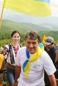 Ющенко поднимется на Говерлу