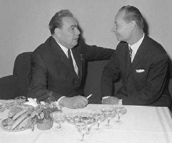 Дубчек с Брежневым