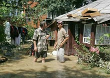 Natural disaster and flood in western regions