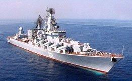 Крейсер «Москва» направляется к берегам Кавказа