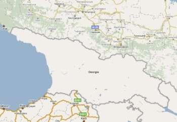 На Гугловской карте исчезло наполнение по Грузии