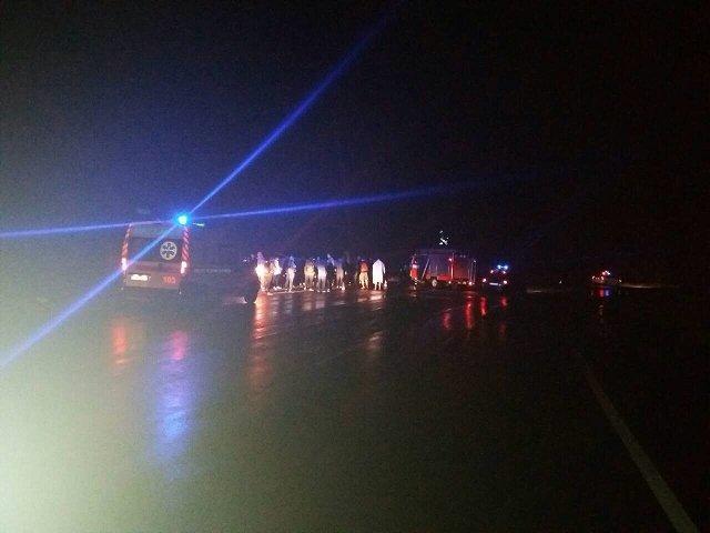 На Закарпатье автобус сборной Украины по самбо вылетел в кювет