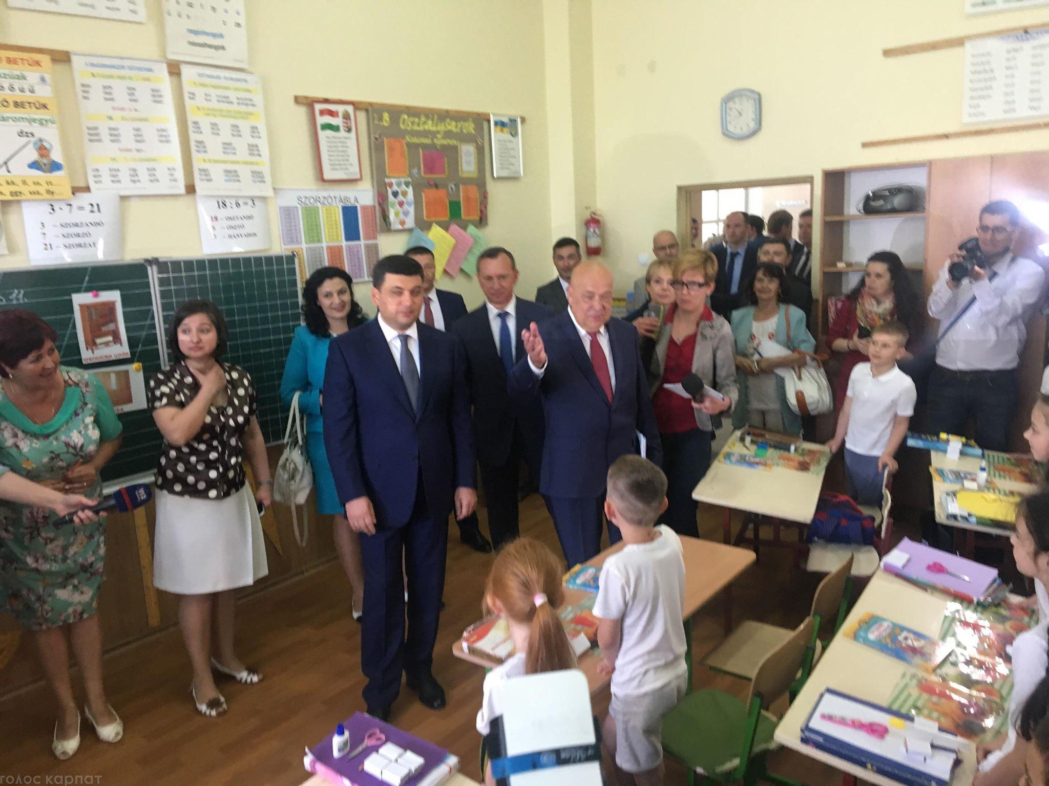 Премьер-министр и министр образования и науки Украины уже в Ужгороде