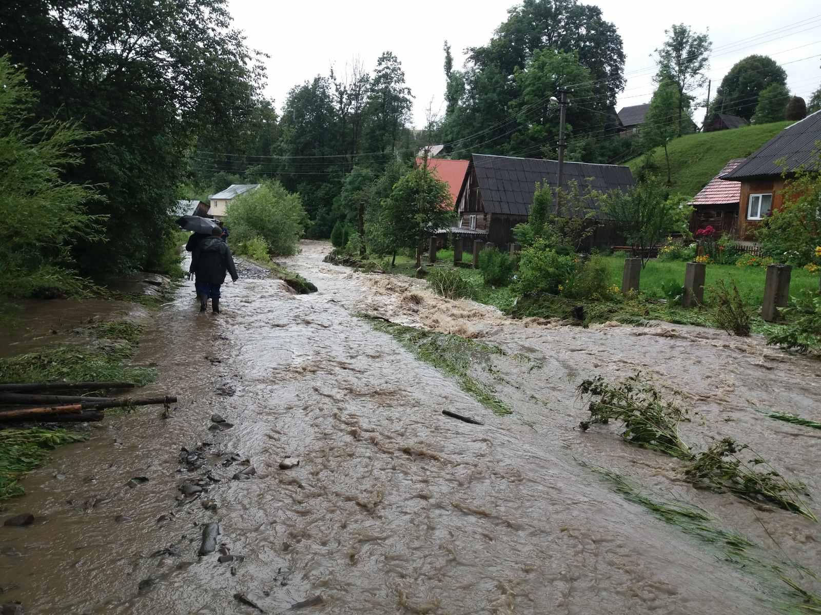 С большой водой в Закарпатье снова пришло большое горе