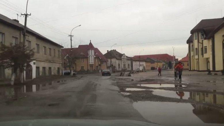 Закарпаття. шокуючий стан дороги з Вилока до Виноградова.