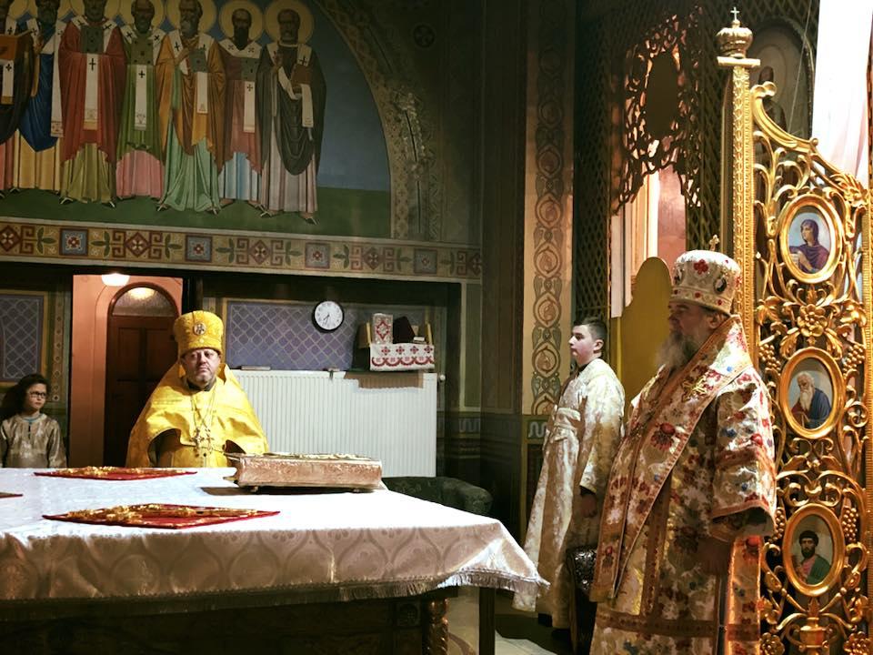 МУКАЧЕВО. Архієрейське богослужіння в неділю митаря та фарисея