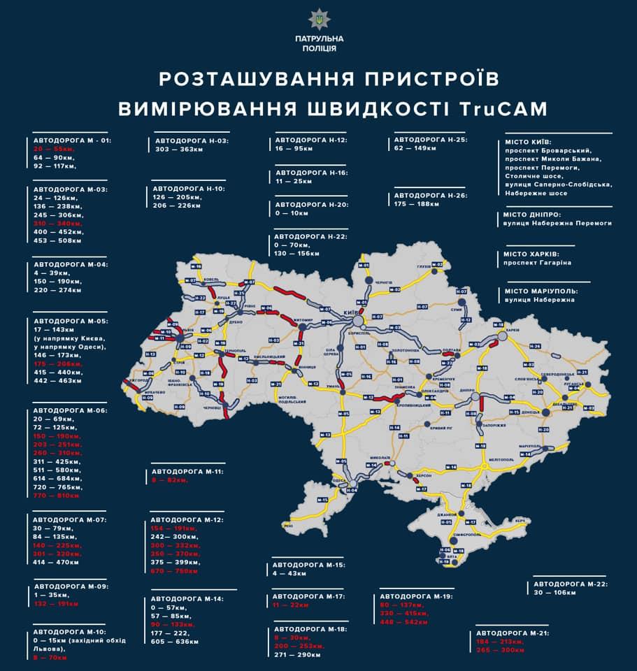 В Закарпатье полиция увеличила количество радаров TruCam