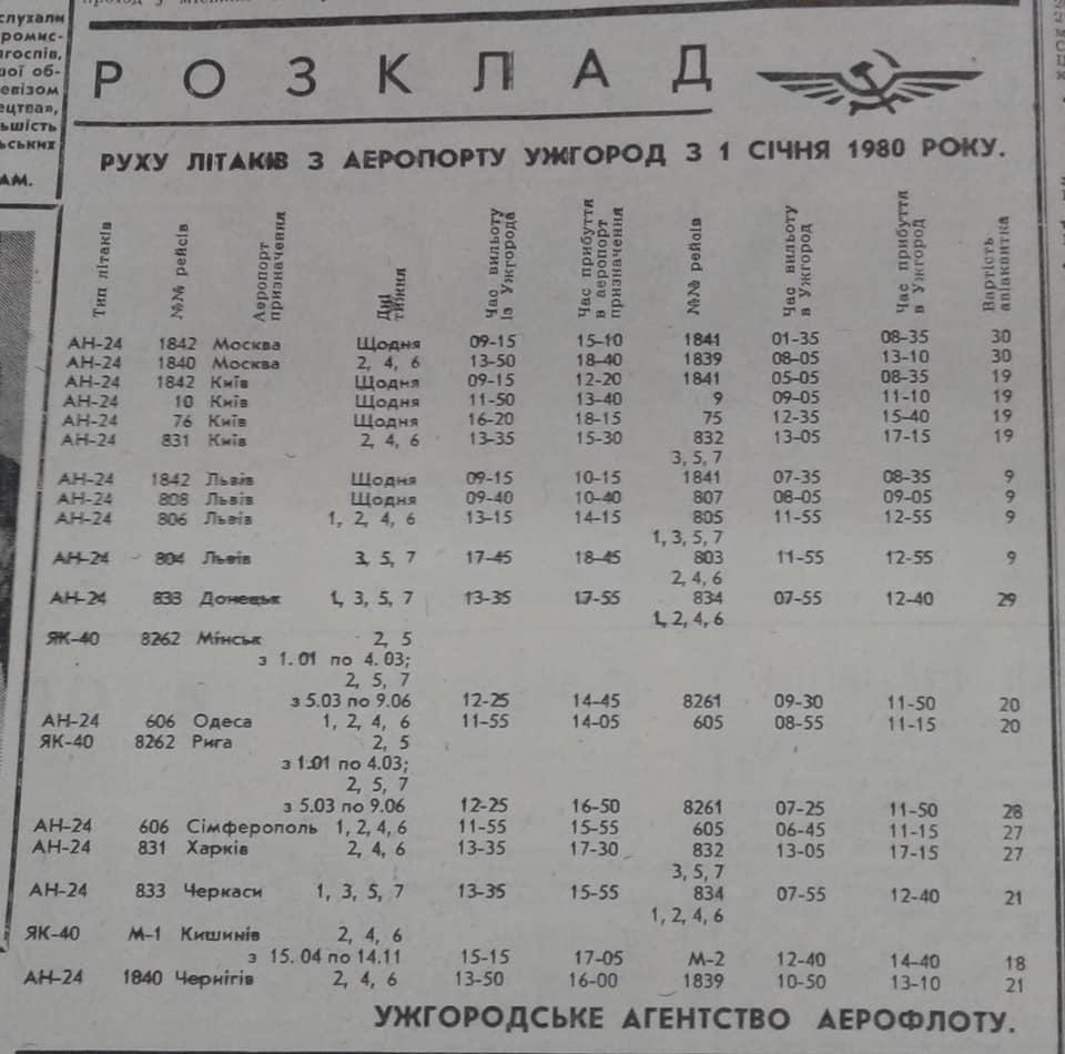 Ще якихось 30-40 років тому гул моторів літаків над столицею Закарпаття стихав лише вночі