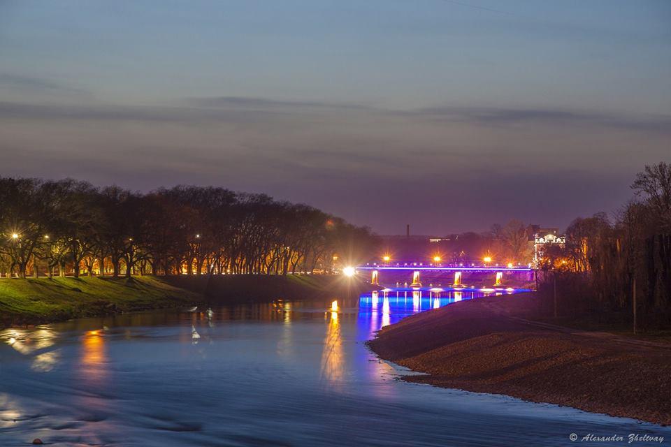 Таинственный вечерний Ужгород