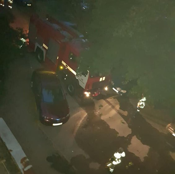 В Закарпатье горел автомобиль бывшего заместителя Ратушняка