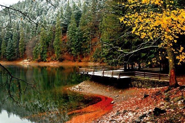 Синевирське озеро в осіннії багряно-жовтих кольорах!