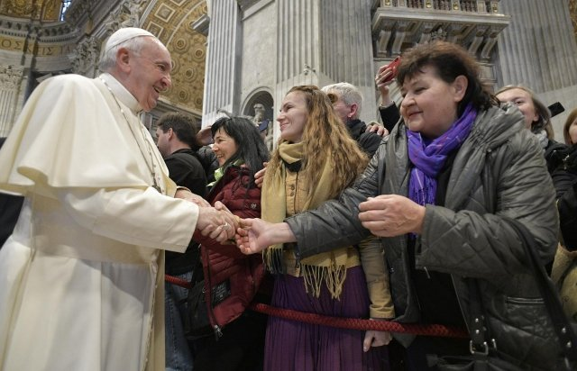 Ватикан. Папа Римський Франциск зустрівся з паломниками із Закарпаття
