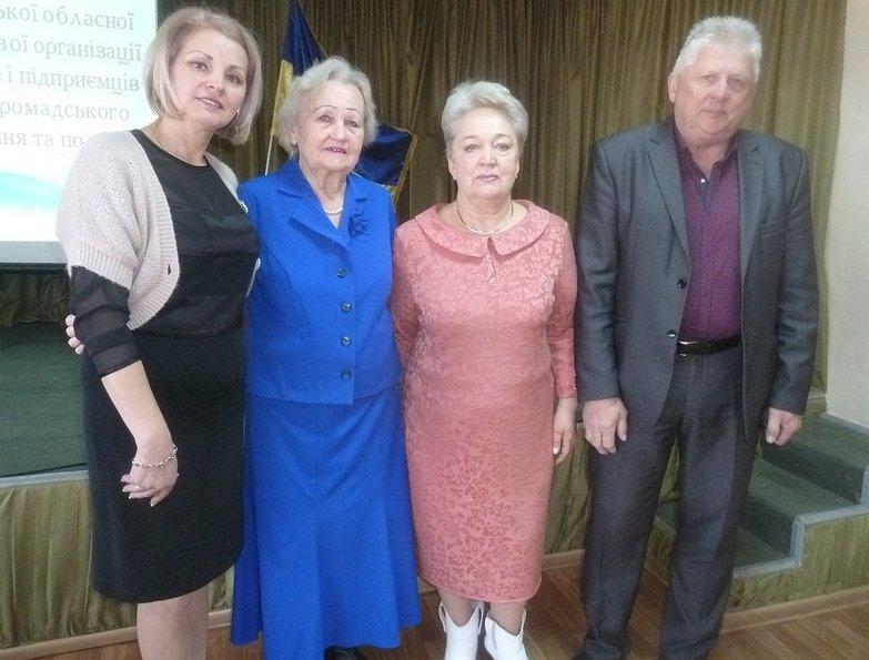 Під час пленуму в Ужгороді (справа наліво): Володимир Фленько, Тетяна Ясько, Галина Сваричевська, Наталія Кузьма