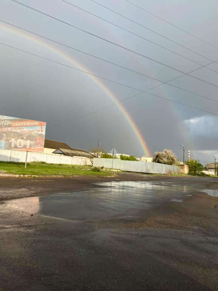 Фантастичну феєрію в небі спостерігали мешканці міста Ужгород