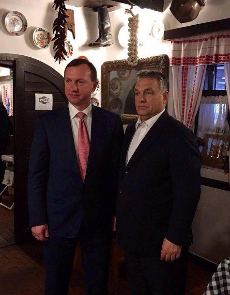Встреча Андриива и Орбана в ресторане за обедом