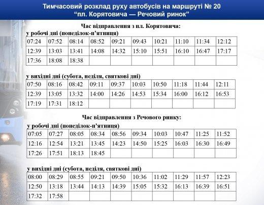 В Ужгороде маршрутка №20 станет ездить намного чаще