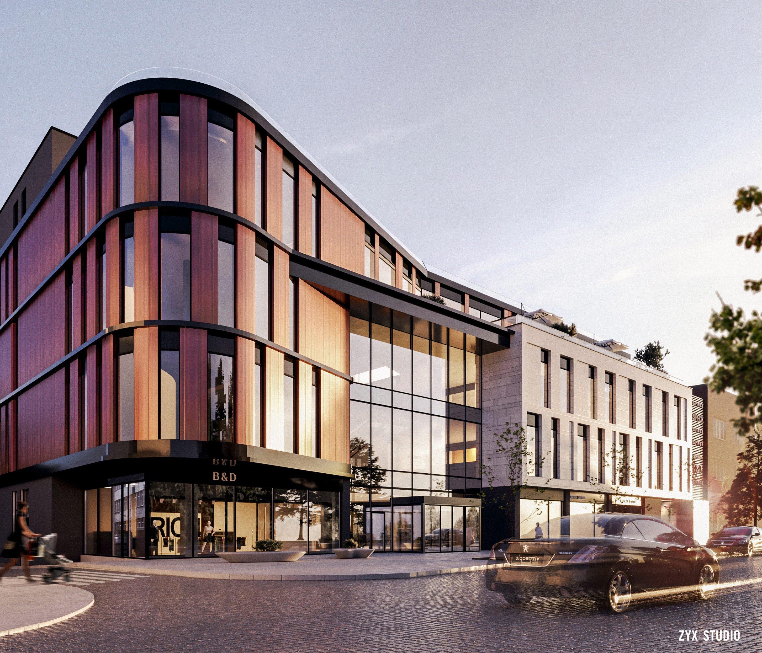 Архитекторы показали проект нового торгового центра в Ужгороде