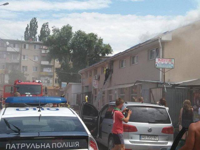 """Пожар на """"Белочке"""" в Ужгороде"""