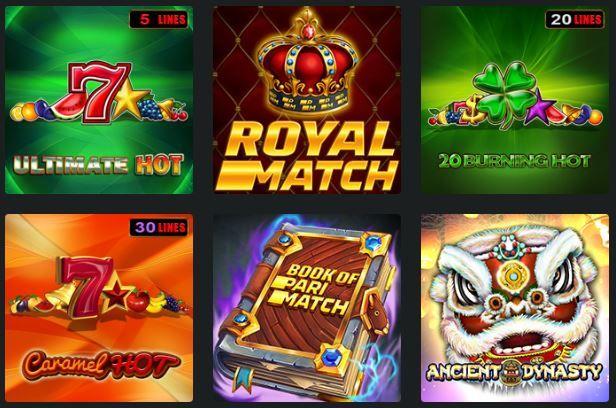 Сегодня на площадке Париматч казино насчитывается более 1300 аппаратов