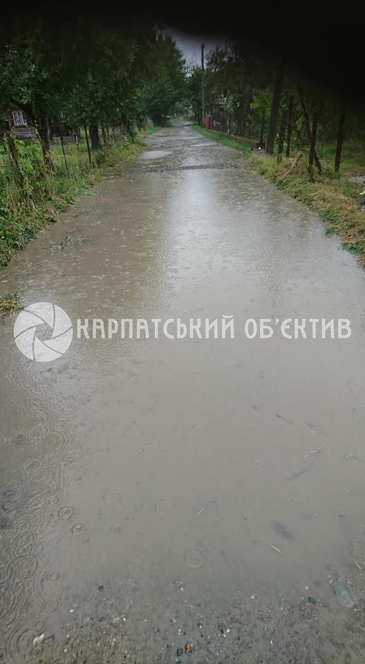 В Закарпатье улицы города превратились в сплошную реку