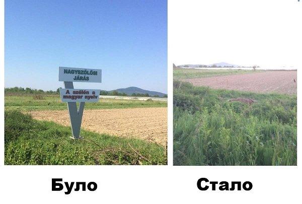 На въезде в Закарпатье исчезли стеллы на венгерском языке