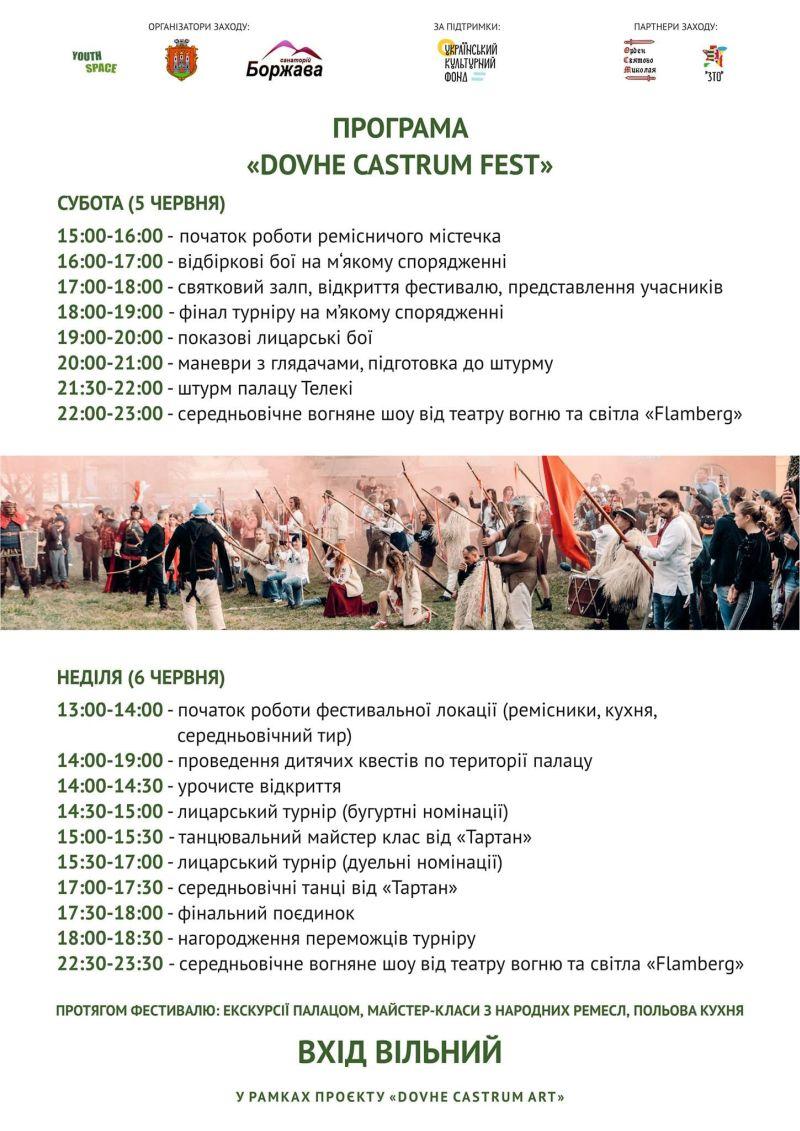ДОВЖАНСЬКИЙ ПАЛАЦ, Закарпаття, лицарські бої, фестиваль
