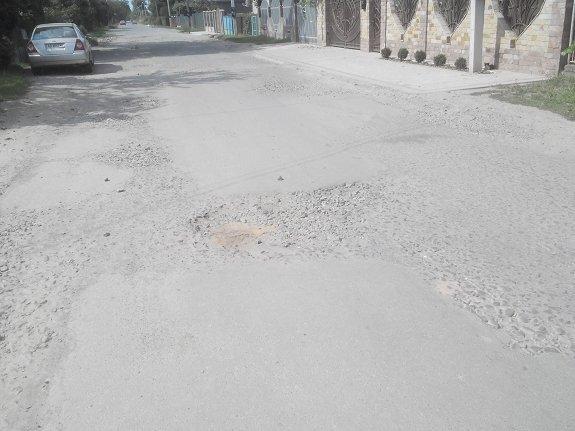 Улица Загорская в Ужгороде в ужасном состоянии