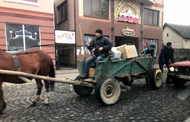 """В Мукачево """"ВАЗ"""" влетел в повозку с конем (ФОТО) 27399713005064783606"""