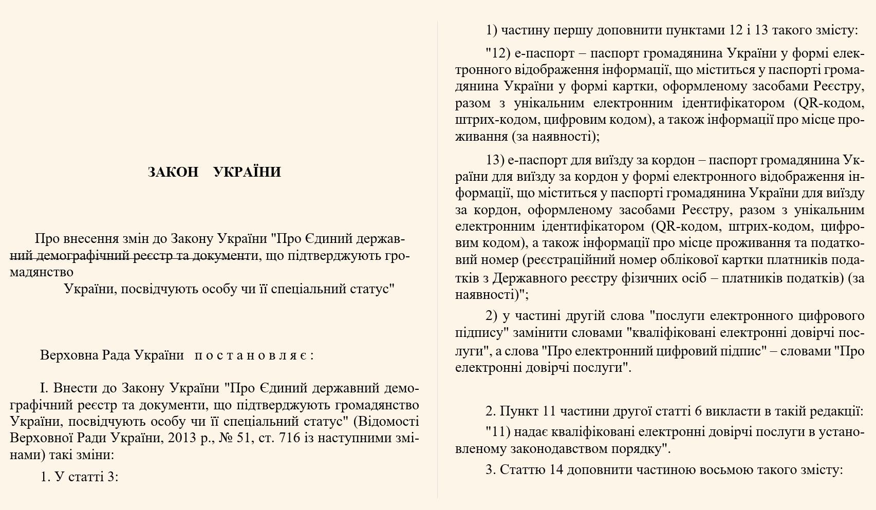 Верховная Рада приняла закон: Украины смогут выезжать за границу без паспорта на руках