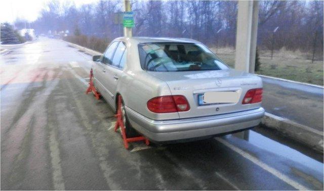 На Закарпатье пограничники задержали разыскиваемое Интерполом авто