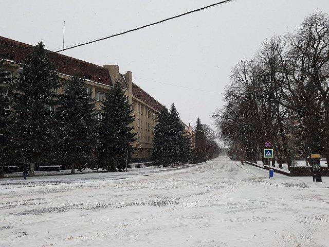 Зима вернулась в Ужгород