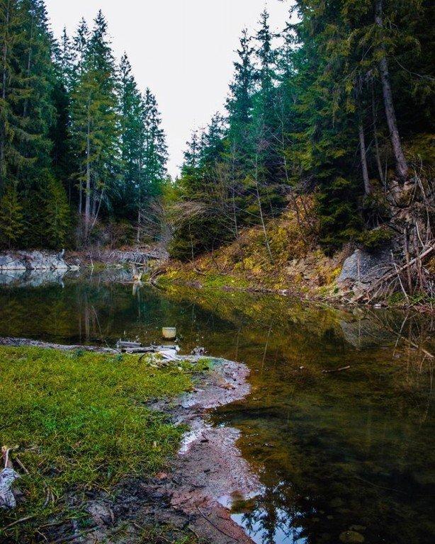 В Карпатах из ниоткуда появилось глубокое озеро завораживающей красоты