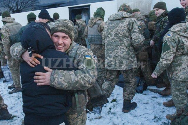 Из зоны АТО на Закарпатье вернулись бойцы 128-й бригады