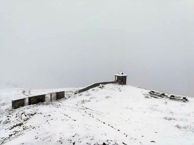 На Закарпатье выпал первый летний снег