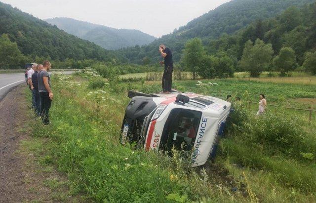 ДТП с автомобилем скорой помощи на Закарпатье