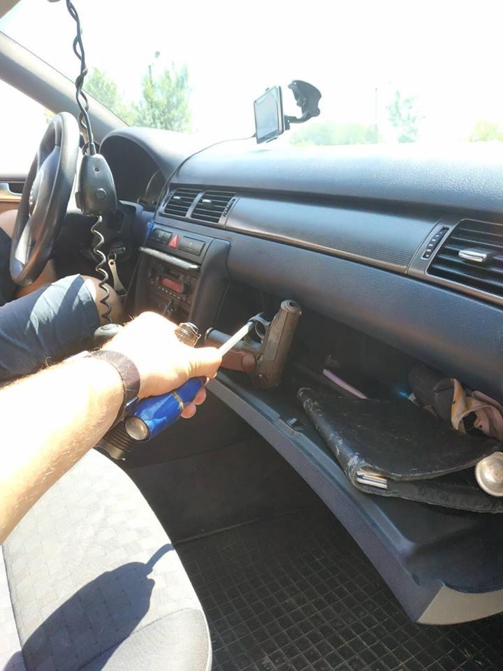 Закарпаття. Прикордонники на держрубежі з Угорщиною вилучили пістолет