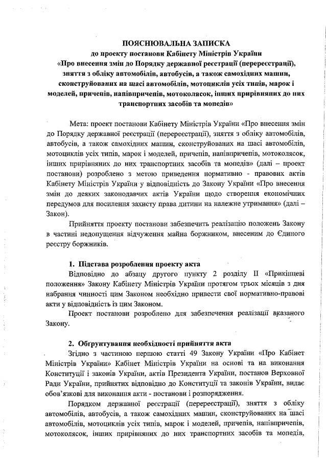 В Украине должников лишили права на продажу личного автомобиля