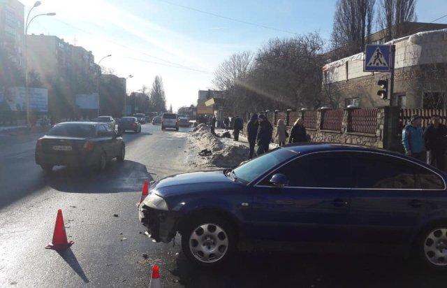 ДТП в Ужгороде: Volkswagen подрезал Toyota
