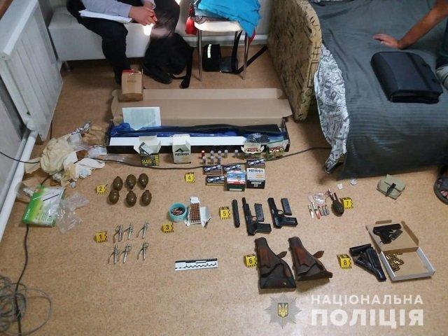 У сообщника Кривоша изъяли целый арсенал оружия и боеприпасов