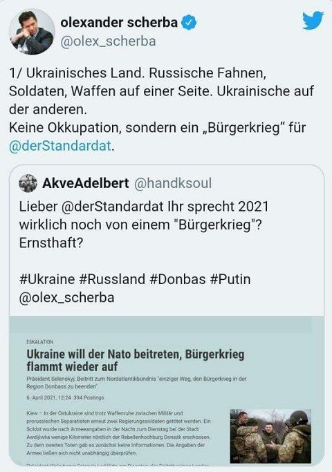 Посол Украины в Австрии Александр Щерба написал возмутительный пост в своем Twitter