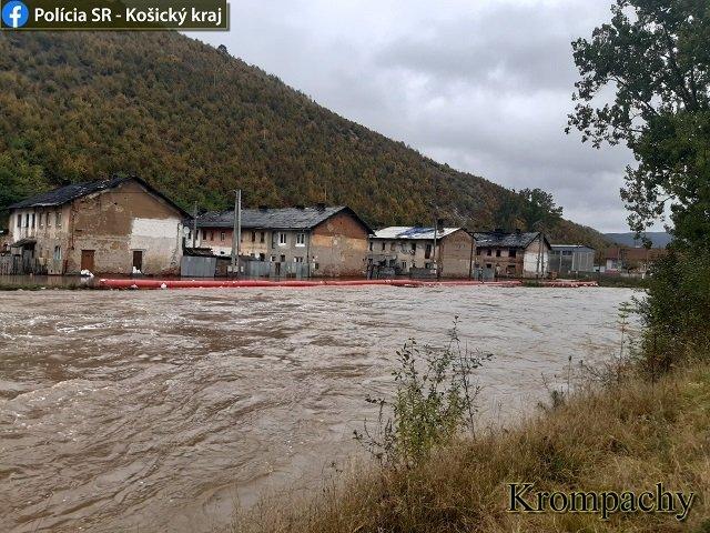 В Словакии сильные дожди стали причиной наводнения