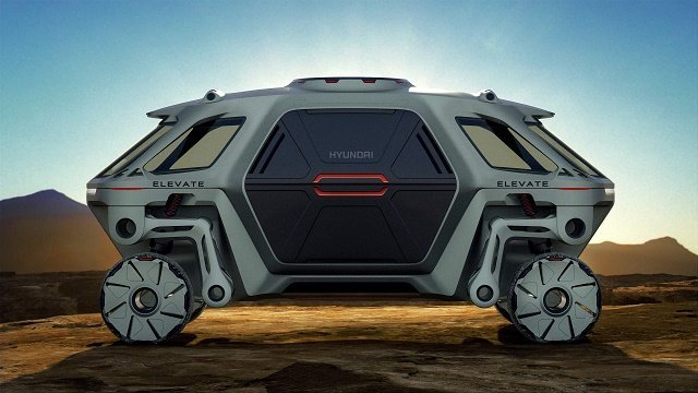 Hyundai представила беспилотник Elevate, который способен залезать на стену