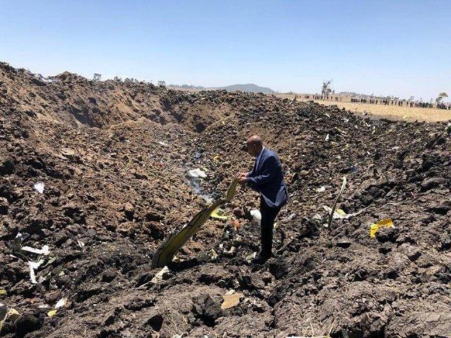 В Эфиопии разбился авиалайнер Boeing 737, место крушения