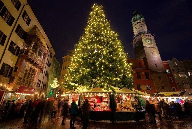 Рейтинг новогодних елок в главных европейских городах: 9. Инсбрук-Австрия